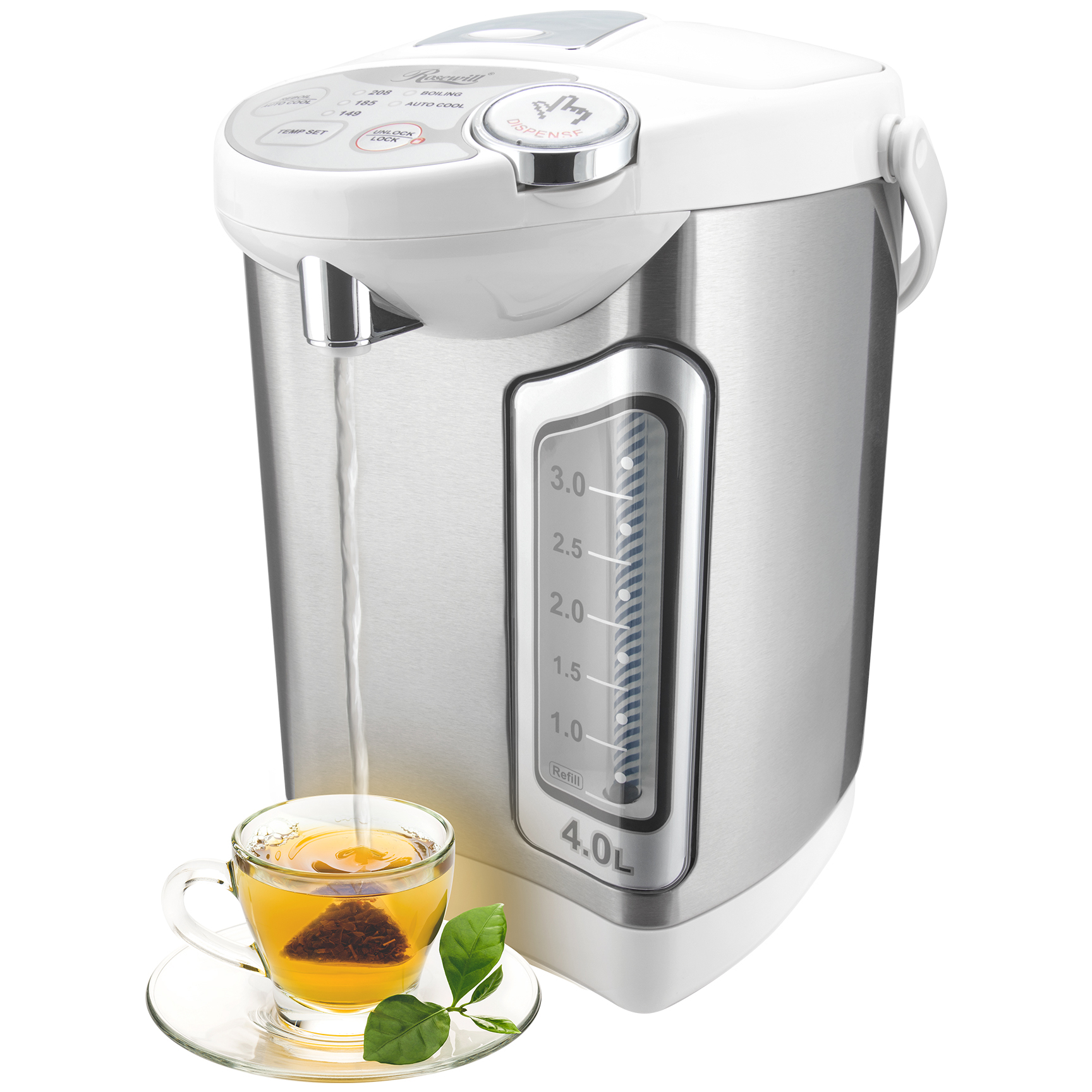 Rosewill R-HAP-15002 4.0 Liters Stainless Steel Electric Hot Water Dispenser with Auto Feed Hot Water Boiler and Warmer