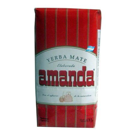 - Yerba Mate Amanda x 500 g Argentina Green Tea 1.1 lb Herbal Loose Leaf Bag Diet