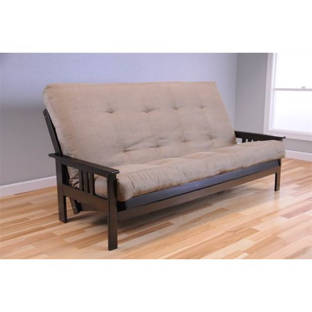 designer fashion 68012 5d74d Queen Size Futon Frame and Mattress Set in Espresso and Peat