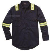 Workrite Fr Flame Resistant Collared Shirt, Navy, UltraSoft(R), 2XL, 259UT70NB