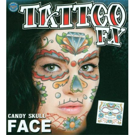 Morris Costumes DFFC501 Face Tattoo Candy Skull](Candy Skull Makeup)