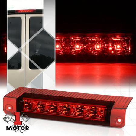 Chrome/Red Rear LED Third [3rd] Brake Light for 03-17 Chevy Express/GMC Savana 04 05 06 07 08 09 10 11 12 13 14 15 16 06 Rear Set Premium Brake