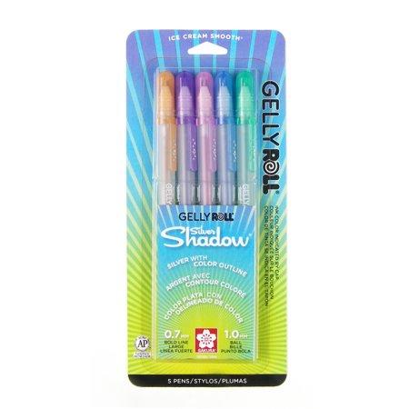 Sakura Gelly Roll Silver Shadow Pen Set, 5-Colors - Sakura Gelly Roll
