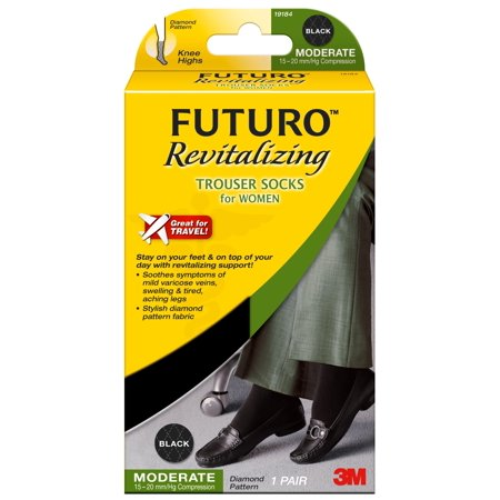 Futuro Revitalizing Trouser Socks for Women, Black