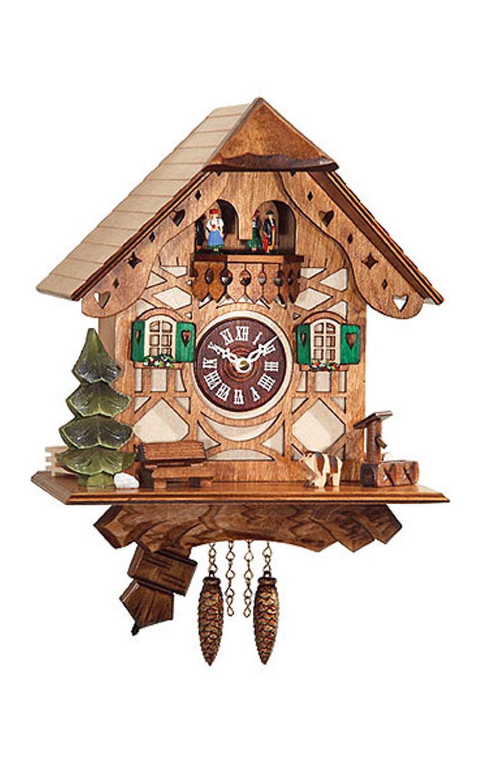 "Alexander Taron Engstler Battery-operated Clock Mini Size with Music Chimes 8.25""H x 8""W x 5.25""D by ENGS"