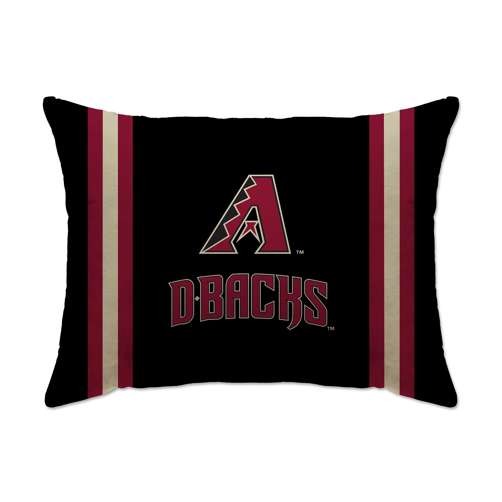 "Arizona Diamondbacks 20"" x 26"" Plush Bed Pillow - Black - No Size"