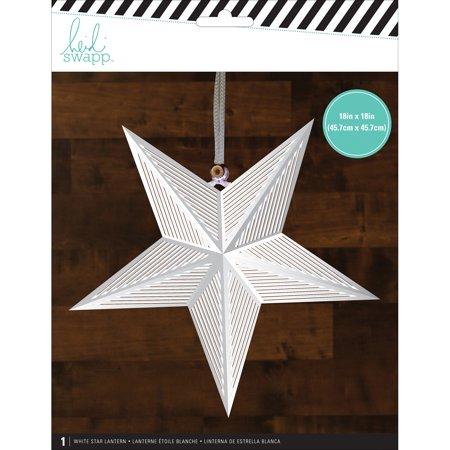 Heidi Swapp Star Paper Lantern-White/Large, Pk 3, Heidi Swapp](Large Paper Lanterns)