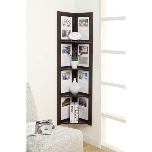 4D Concepts 4 Tier Hanging Corner Picture Shelf