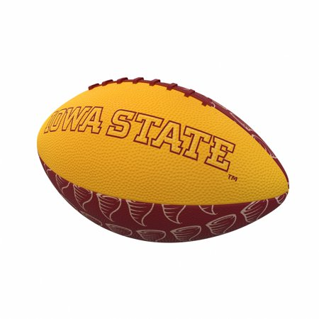IA State Cyclones Repeating Mini-Size Rubber Football