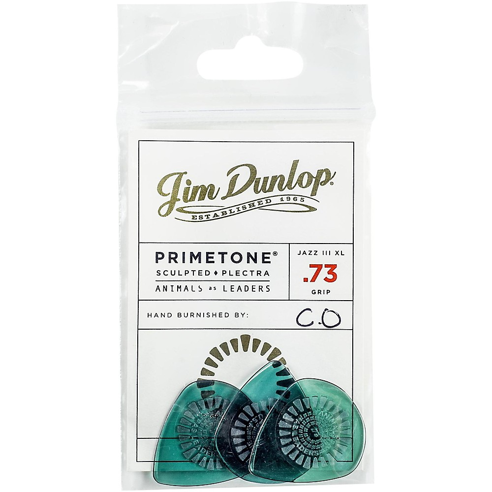 Dunlop Animals As Leaders Primetone, Green Guitar Picks .73 mm 3 Pack