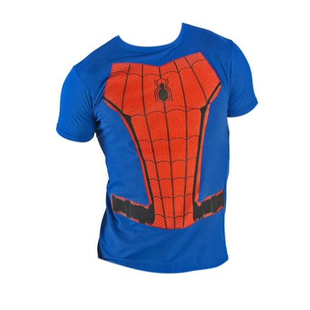 Spiderman Suit Up Charcoal Costume Tee Shirt - Spiderman Suit For Sale