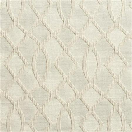 Designer Fabrics U0030B 54 in. Wide Cream Lattice Woven Upholstery Fabric