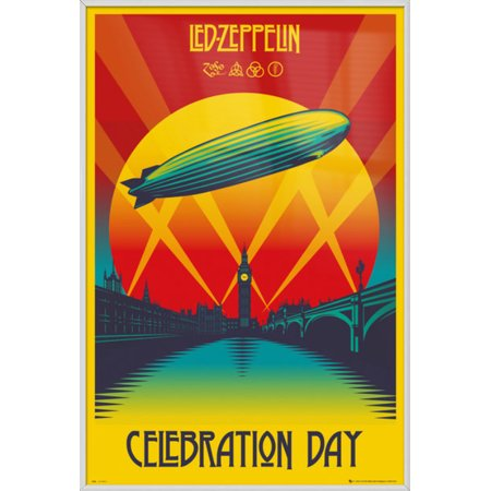 Led Zeppelin - Framed Music Poster / Print (Celebration Day) (Size: 24