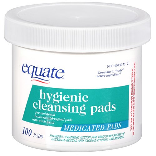 Equate Hygenic Cleansing Pad
