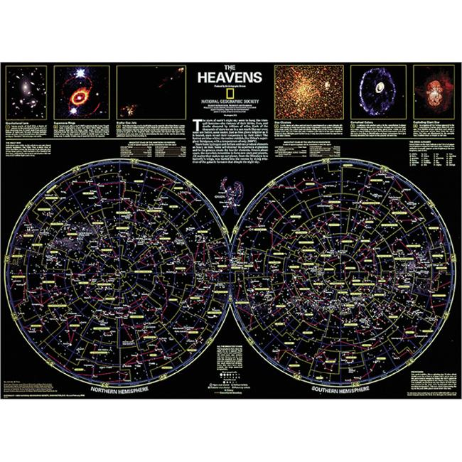 National Geographic RE00602060 Map Of The Heavens