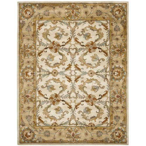 Charlton Home Cranmore Hand-Tufted Wool Beige/Gold/Dark Brown/Gray Area Rug