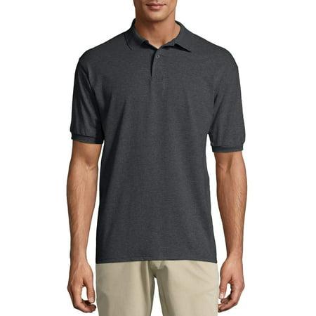 Hanes Big men's ecosmart short sleeve jersey polo shirt Cutter & Buck Jersey Polo Shirt