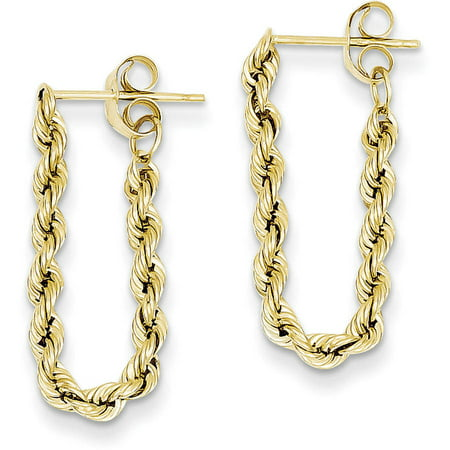 14kt Yellow Gold Hollow Rope Earrings