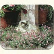 Fiddler's Elbow Sweet Alyssum Siamese Cat Mouse Pad