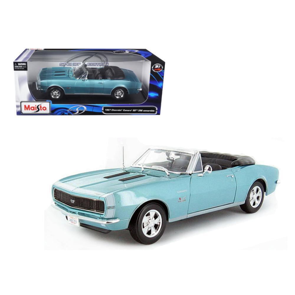 1967 Chevrolet Camaro SS 396 Convertible Turquoise 1-18 Diecast Model Car by Maisto by Diecast Dropshipper