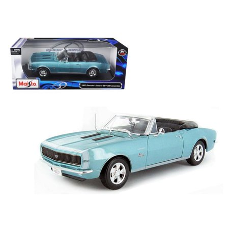 1967 Chevrolet Camaro SS 396 Convertible Turquoise 1-18 Diecast Model Car by Maisto