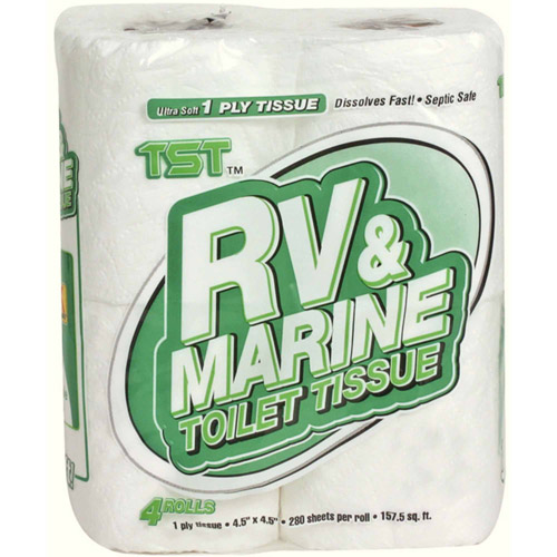 Camco RV and Marine 1-Ply Toilet Tissue, 4pk
