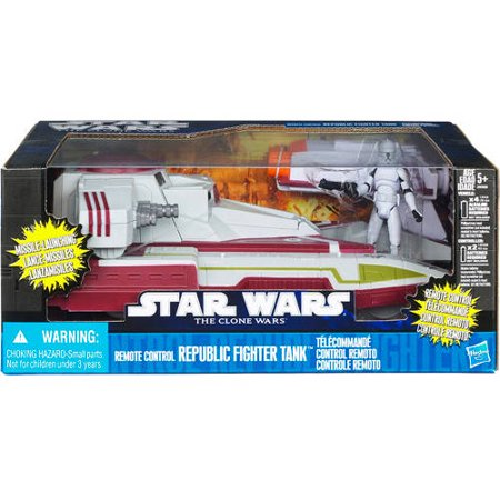 Star Wars The Clone Wars Remote Control Republic Fighter Tank - Star Wars Remote Control