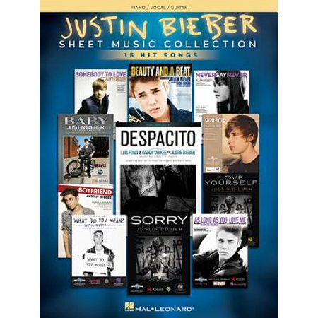 Justin Bieber - Sheet Music Collection : 17 Hit Songs