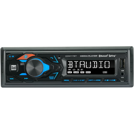 Dual Electronics XDM17BT High Resolution LCD Single DIN Car Stereo Receiver with Built-In Bluetooth, USB, MP3 Player & Siri/Google Assist Button
