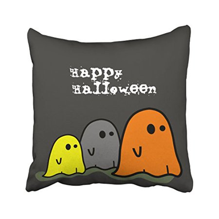 WinHome Halloween Ghosts Cute Pillow Covers Cushion Cover Case 20x20 Inches Pillowcases Two Side](Cute Halloween Ghost Sayings)