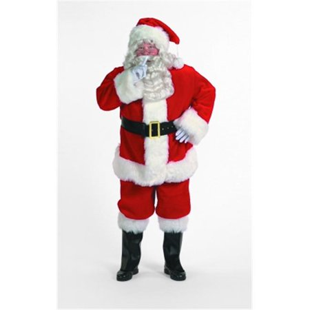 Deluxe Luxury Santa Suit - Halco 9196 Professional Deluxe Red Plush Santa Suit Size 50-56