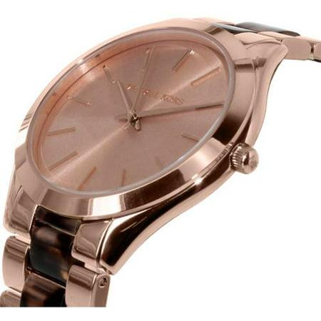 Women's Slim Runway Tortoise Acetate Watch (Tortoise Gold)