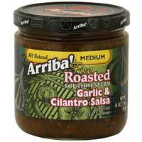 Arriba! Garlic & Cilantro Medium Salsa, 16 oz (Pack of 6)
