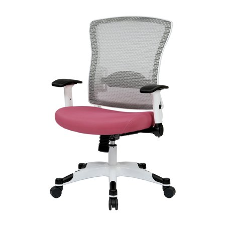White Frame Managers Chair Color Pink