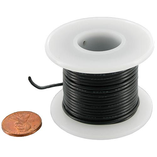 Hook-Up Wire on Spool - Black