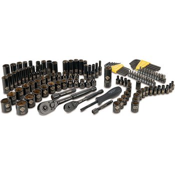 Stanley 123 Piece Black Chrome Socket Set