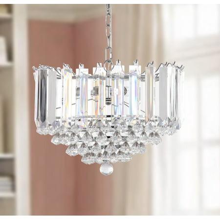 Safavieh Hampton 2 Light 16.5 In. Dia. Glass Pendant, Chrome