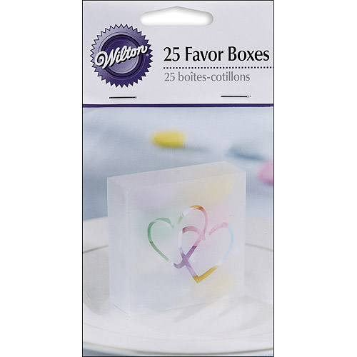 Wilton Two Hearts Acetate Box, 25/pkg, Clear