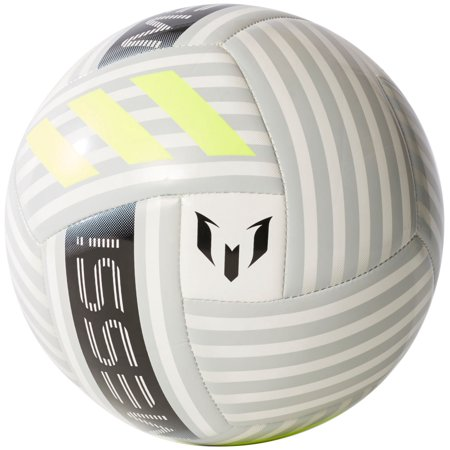 adidas Messi Dust Storm Soccer Ball (White/Black/Yellow,