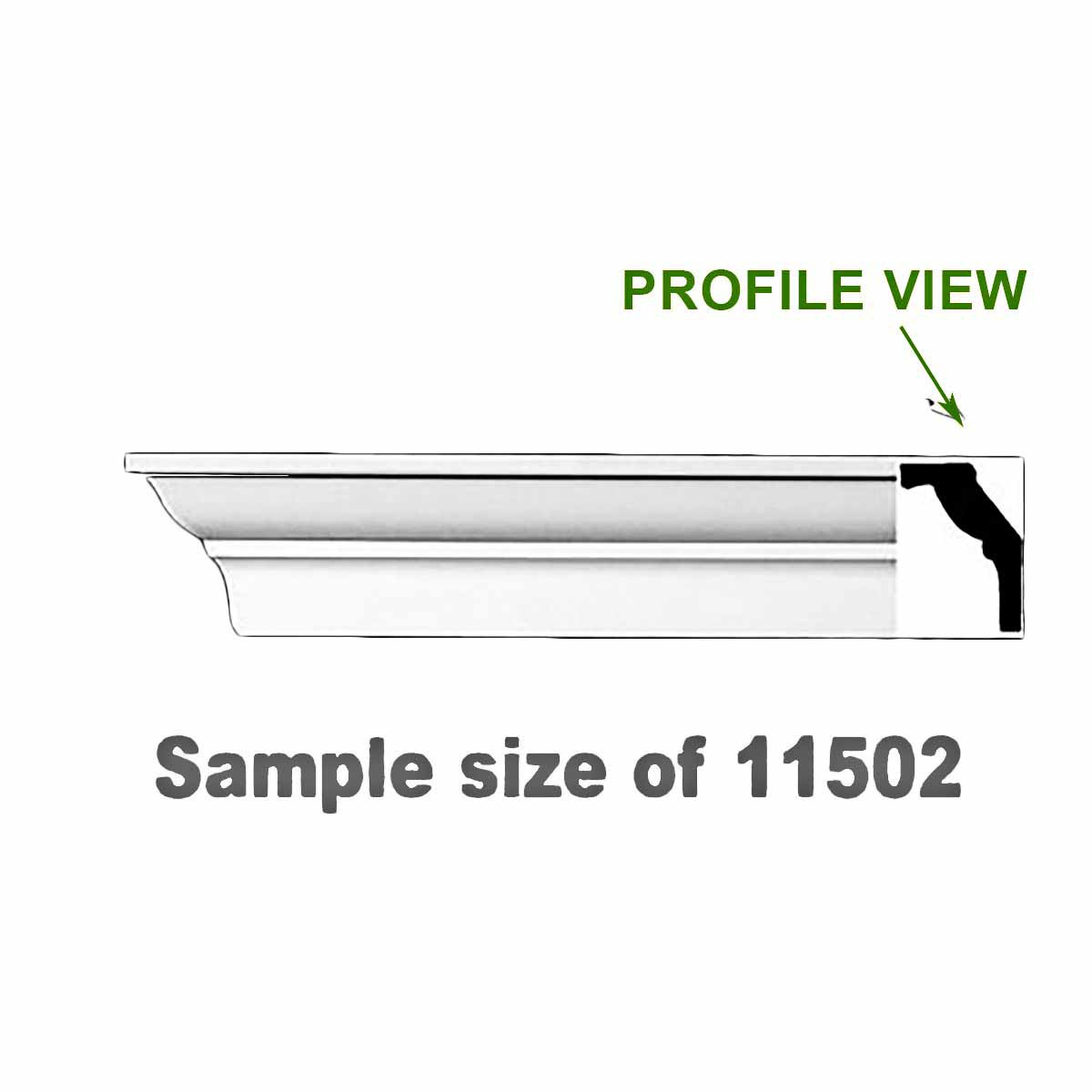 "Cornice White Urethane 23.5"" Sample of 11502 | Renovator's Supply"