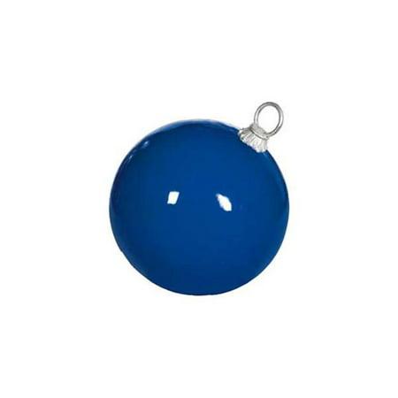 21.5 in. dia. Fiberglass Ball Ornament, Glossy Blue