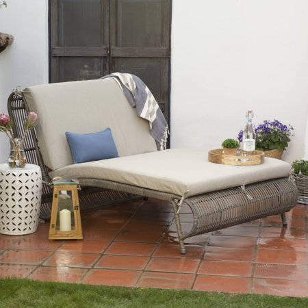 Belham Living Batiki Sun Bed Double Chaise Lounge with Cushion ()