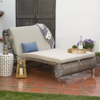 Belham Living Batiki Sun Bed Double Chaise Lounge with Cushion