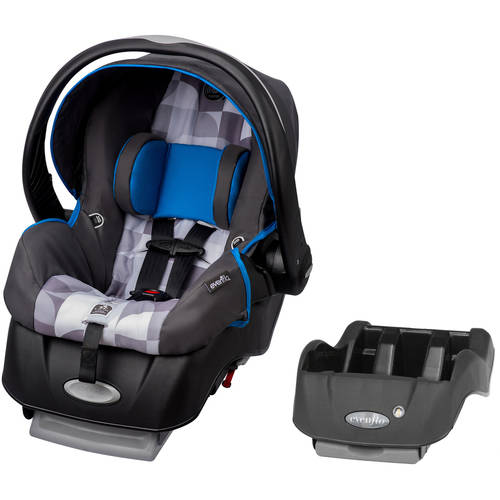 Evenflo Embrace Select Infant Car Seat with Sure Safe Installation, London, with BONUS Car Seat Base