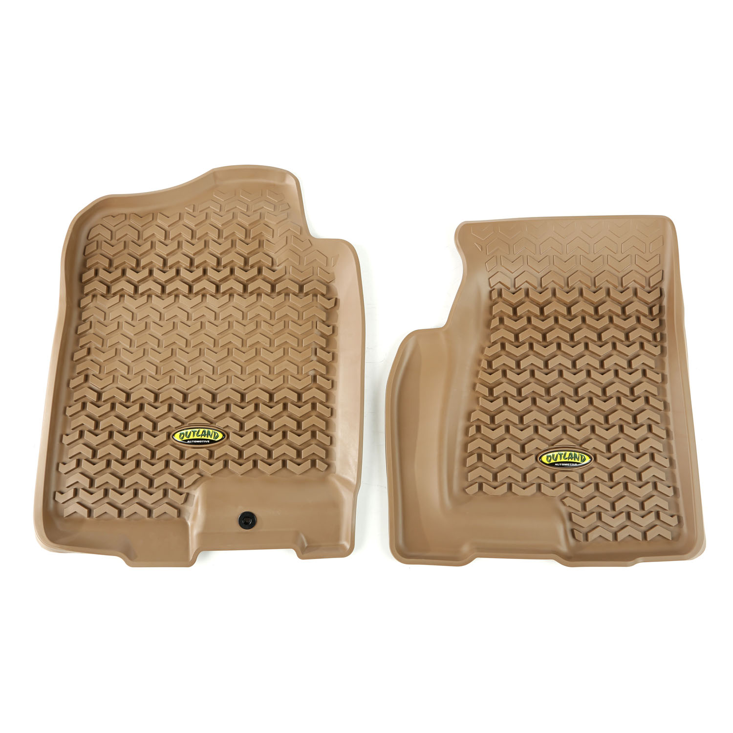 Outland 398390102 Front Tan Floor Liners for 99-06 GM Full-size Pickup/SUV