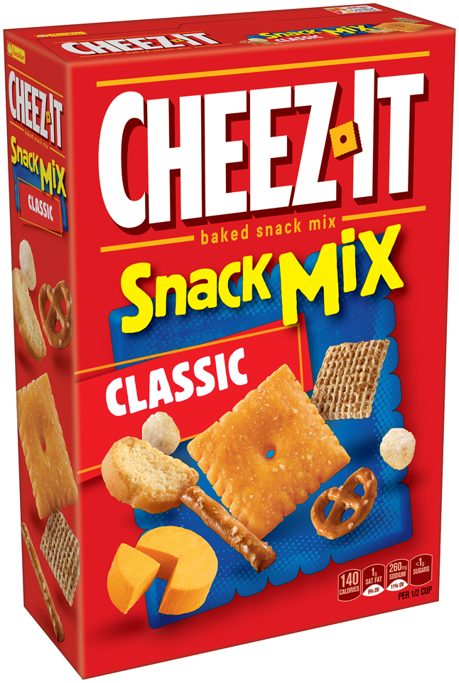 Cheez-It Baked Snack Crackers Snack Mix Classic, 10.5 OZ by Kellogg Company