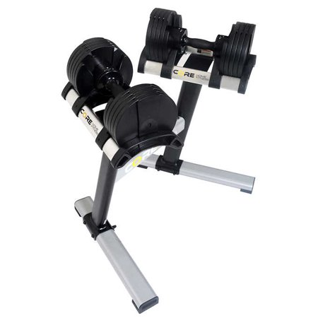 core home fitness adjustable dumbbell set and stand