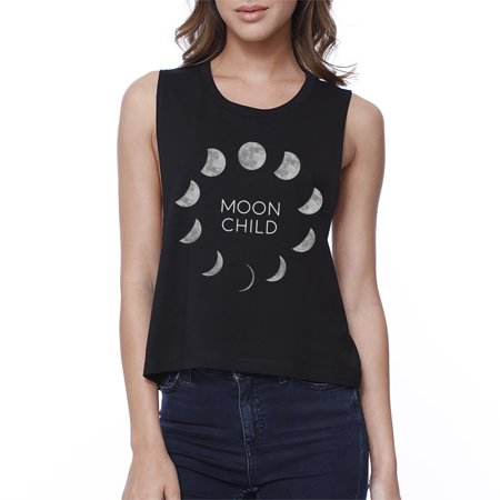Moon Child Womens Halloween Crop Top Cute Graphic Cropped Shirt - Cute Halloween Graphics