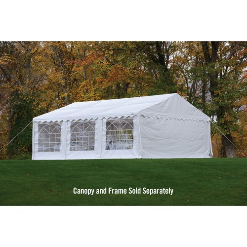 Enclosure Kit with Windows for Party Tent, 20' x 20' 6m x 6m, White, (Frame and Cover Not Included) by ShelterLogic