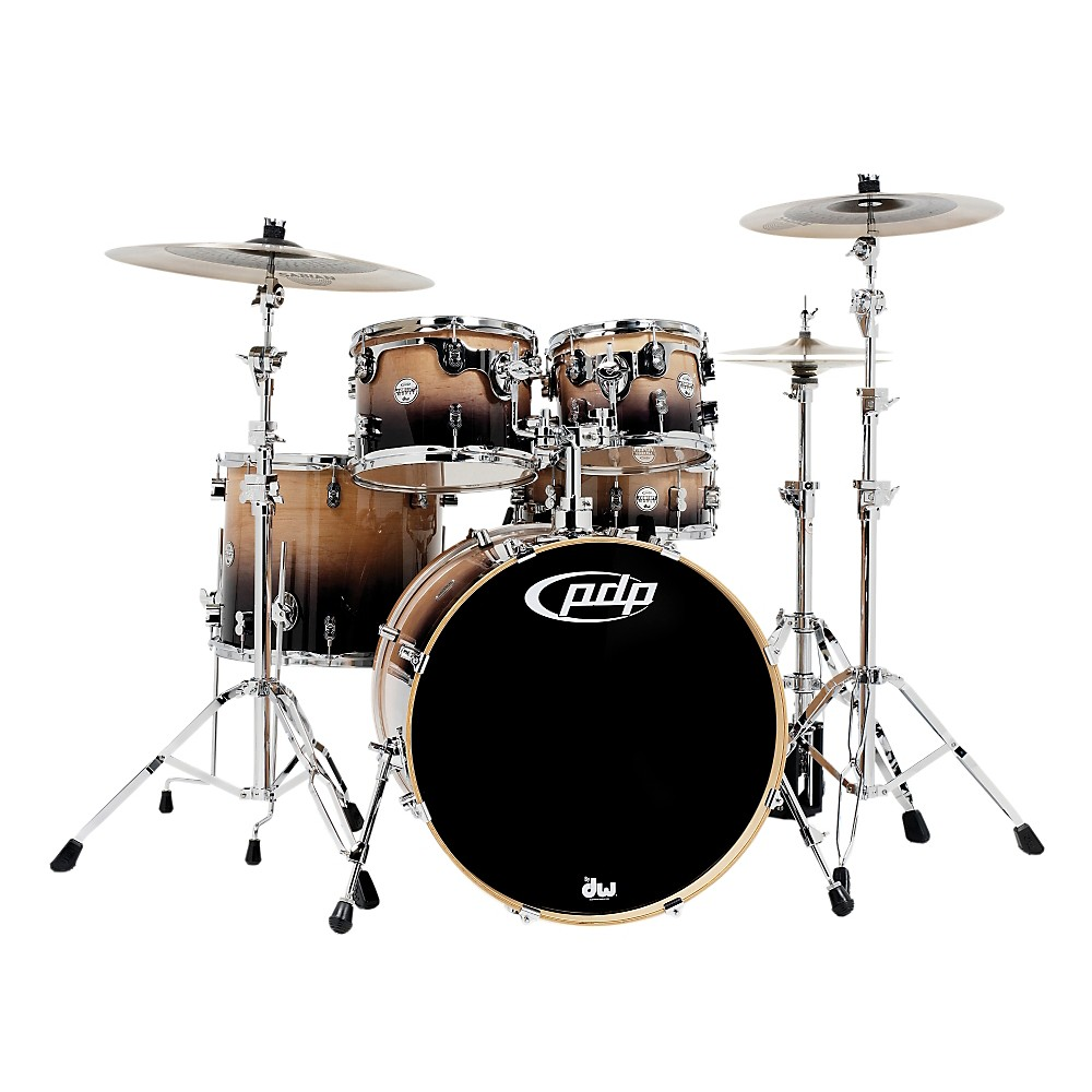 PDP Concept Maple by DW 5-Piece Shell Pack Natural to Charcoal Fade